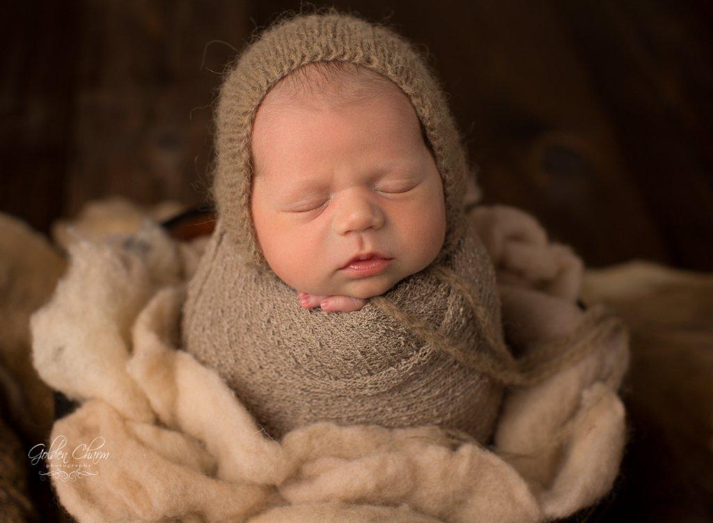 Buffalo-Grove-Newborn-Photography-organic-props-potato-sack